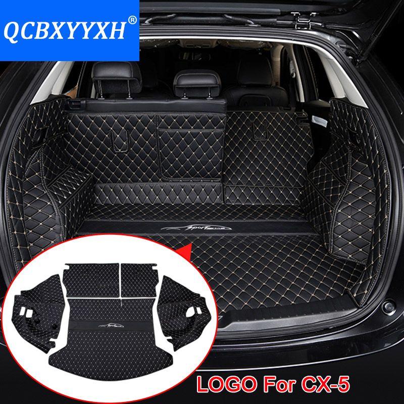 Para Mazda cx-5 2017 2018 car boot Esterillas trasero liner cargo floor Alfombras bandeja protector Accesorios etiqueta perro pet cubierta