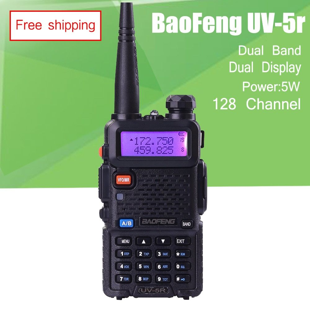 BAOFENG UV-5R <font><b>Walkie</b></font> Talkie Dual Band 136-174Mhz & 400-520Mhz Baofeng UV5R 5W handheld two way radio Communicator Transceiver