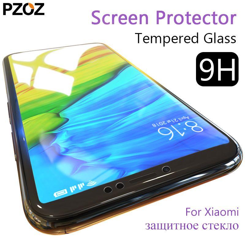 Pzoz tempered glass xiaomi mi a1 redmi note 5 screen protector full cover redmi note 5 pro Pocophone F1 prime film xiomi xaomi