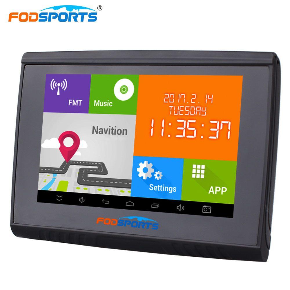 Fodsports 5.0 дюймов Android 4.4.2 мотоциклетные GPS мотоцикл навигации 512 МБ 8 ГБ flash WI-FI Bluetooth Автомобильный навигатор Бесплатная Карты FMT