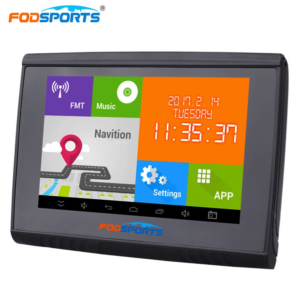 Fodsports 5.0 inch Android 4.4.2 WIFI Motocycle GPS Navigation 512MB 8GB Flash Bluetooth Car GPS Navigator Free Maps FMT