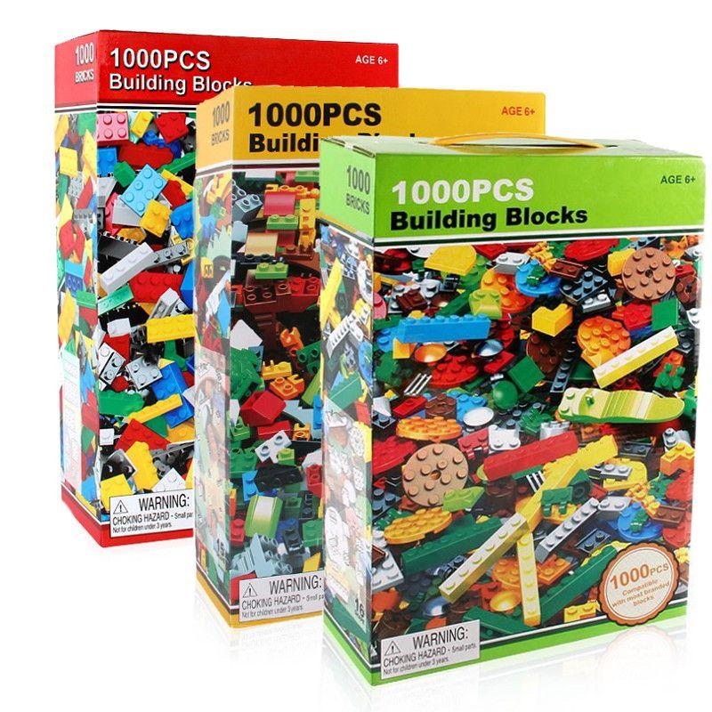 1000 stücke Ziegel Designer Kreative Klassische Ziegel DIY Bausteine Lernspielzeug Groß Für Kinder Geschenk Kompatible Lego