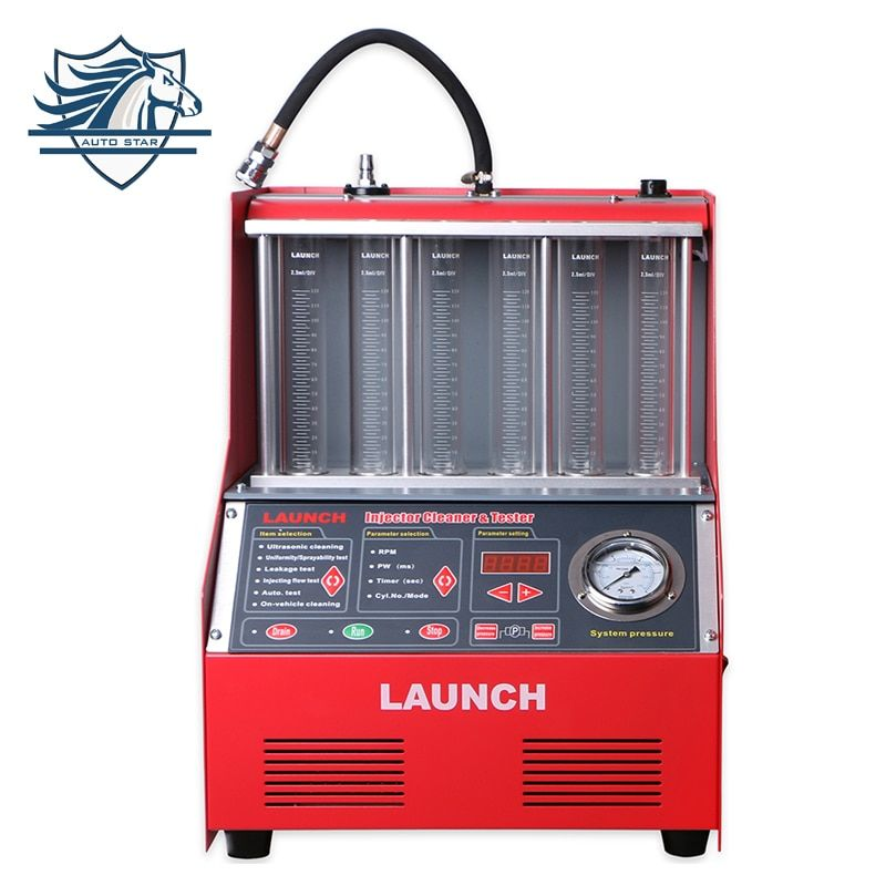 100% Original Launch 6 Cylinder CNC602A Ultrasonic FUEL Injector Cleaner&Tester with English Panel 220V/110V Launch CNC-602A