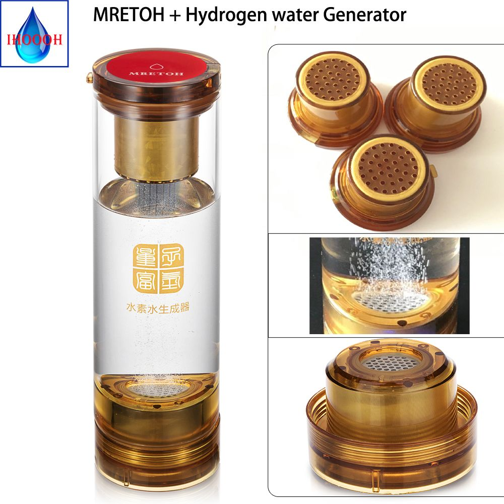 Gesunde Anti-Aging MRET OH und Wasserstoff generator Zwei-in-one Elektrolytischen wasserstoff Ionisator generator Mit Säure wasser hohlraum