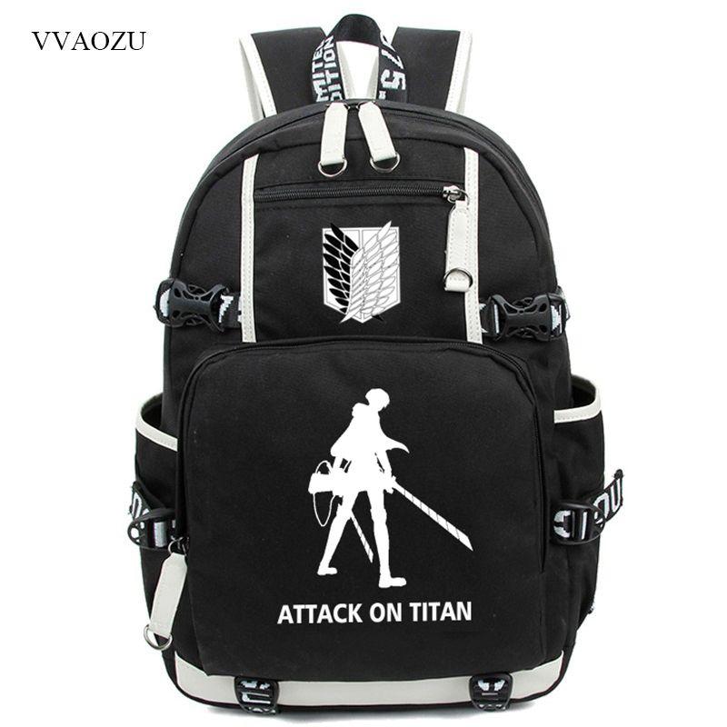 Freies Verschiffen Angriff auf Titan Leucht Rucksack Shingeki kein Kyojin Cosplay Jugendliche Schüler Schultasche Daypack Große Reisetasche