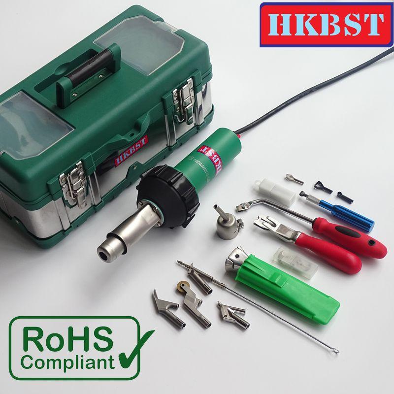 HKBST marke 1600 Watt Linoleum Oder Vinyl Boden Heißluft Schweißen Kit Mit Kunststoff Heißluftpistole Und Zubehör