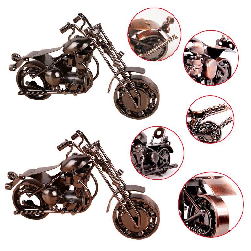 Creative Handmade Motorcycle Model Toys Metal Motorbike Model Toy For Men Gift Home Decor