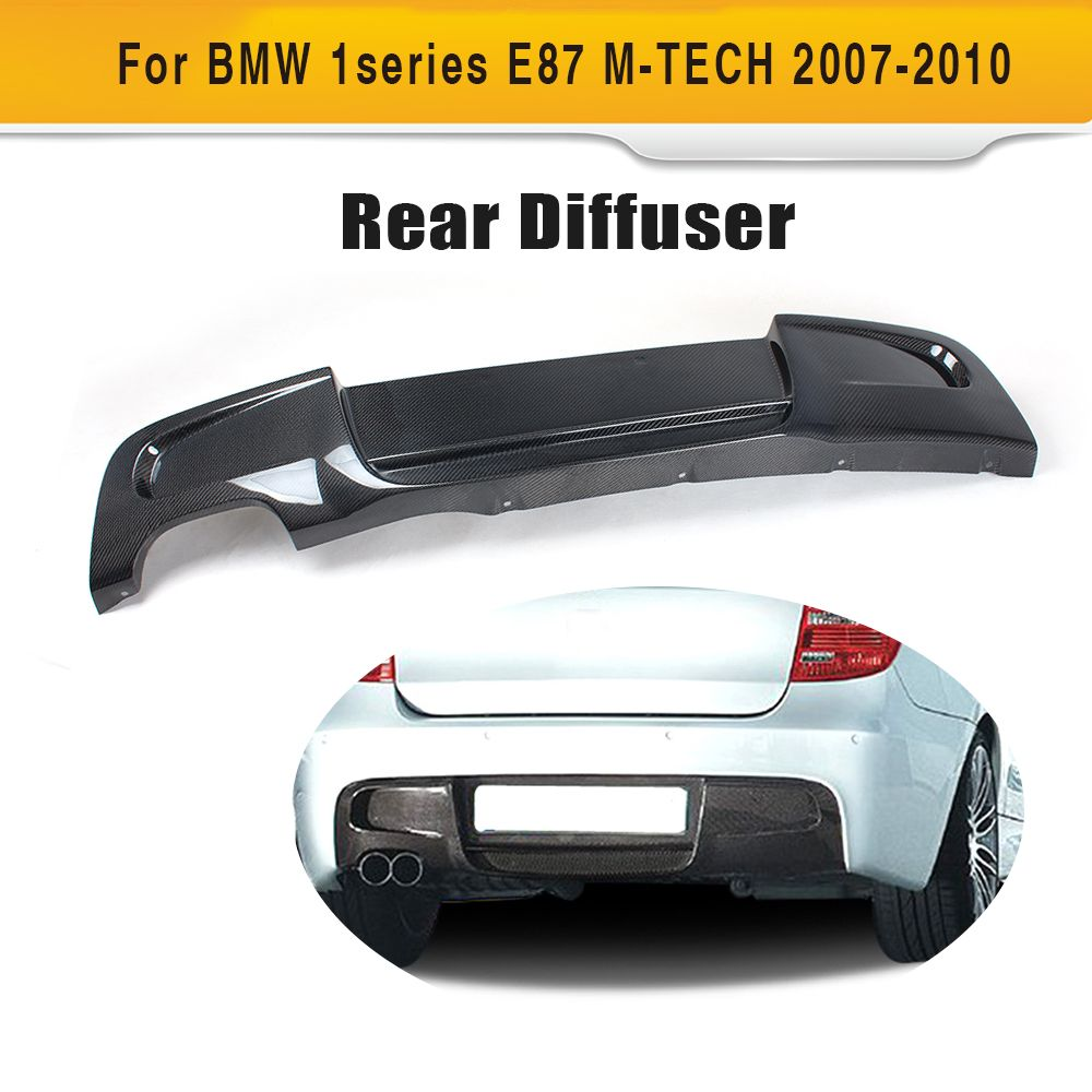 1 Series Carbon fiber Rear bumper lip spoiler diffuser For BMW E87 M sport Hatchback Only 2007 - 2010 120i 130i Two Style