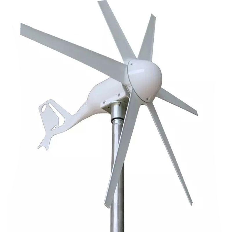 400 w Vent Turbine Générateur seulement 1 m/s Petite Start Vitesse Du Vent vent générateur 24 v 12 v AC Trois -phase sortie 6 pcs Lames