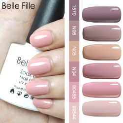 Belle Fille Gel Vernis À Ongles Beige Nude Couleur UV Gel Nail Vente chaude Couleur Nude Semi Permanent Soak Off UV Gel LED vernis