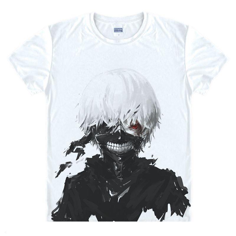 Tokyo Ghoul T-shirts nouveau japon Anime Kaneki Ken réglable fermeture éclair Cosplay Costume Animation dessin animé Ninja créatif 3D T-shirts