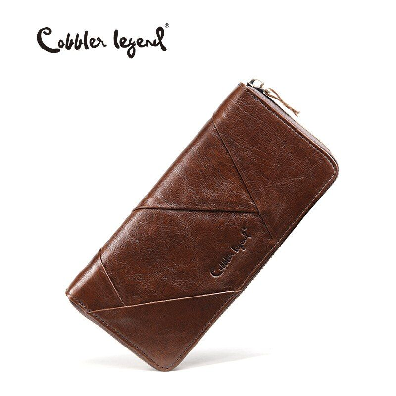 Cobbler Legend 2018 New Retro Trend Women's Wallets For Lady Genuine Leather Thin Clutch Wallet For Girls Long Coin Card Purses