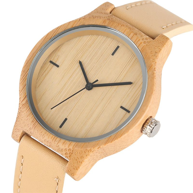 Women Watches 2017 Casual Hand-made Wooden Wristwatch Ladies Girl Real Leather Minimalist Woman's Clock Relogio Feminino Female