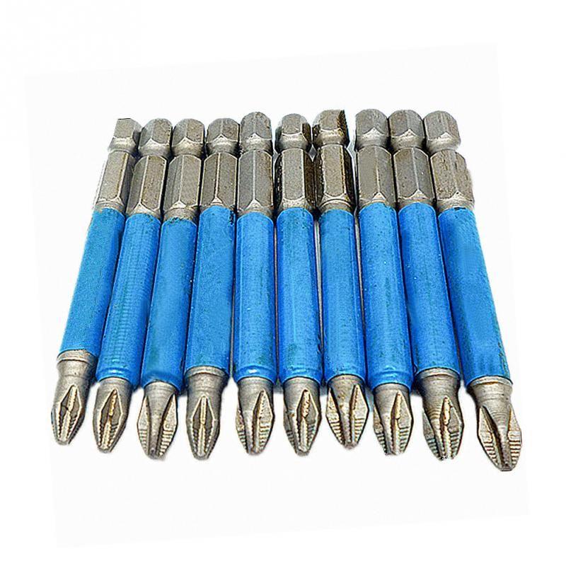 10 teile/sätze 70mm 1/4 Hex Phillips Ph2 Magnetische Antislip Auswirkungen Schraubendreher Bit Bohrer Schraubendreher Ph2 Kopf Fahrer Bit Einzigen seite