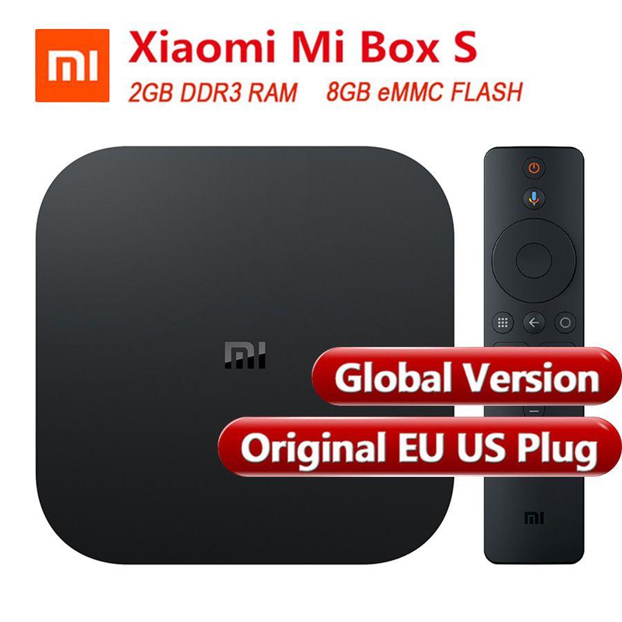 Global Version Original Xiaomi Mi Box S Smart TV Box 4 Android 8.1 4K Quad Core 2GB 8GB HDMI 2.4G 5.8G WiFi Bluetooth 4.2 TV Box