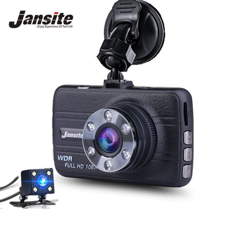 Jansite 3 Inch Screen Car DVR Dual Lens Camera Video Recorder Dash Cam Auto Mini Car Camera Portable Recorder FHD 1080P G-Senser