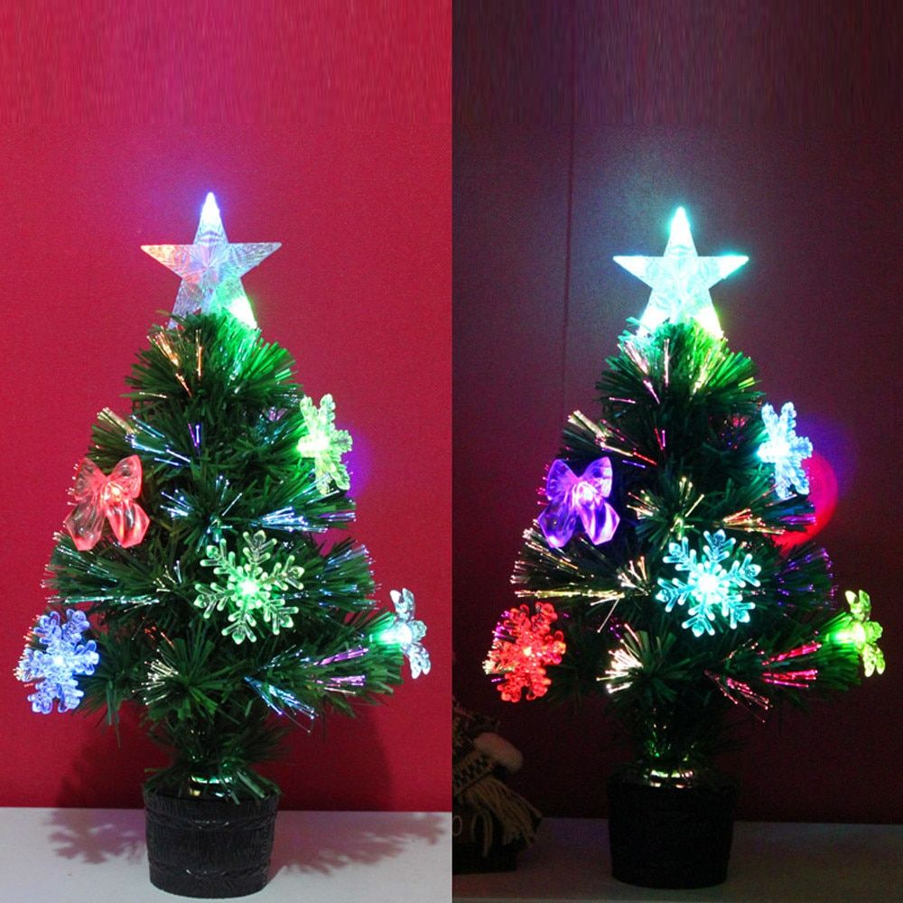 Artificial 45cm Christmas Tree LED Multicolor Lights Holiday Christmas Window Decorations Party Supplies For New Year Festival