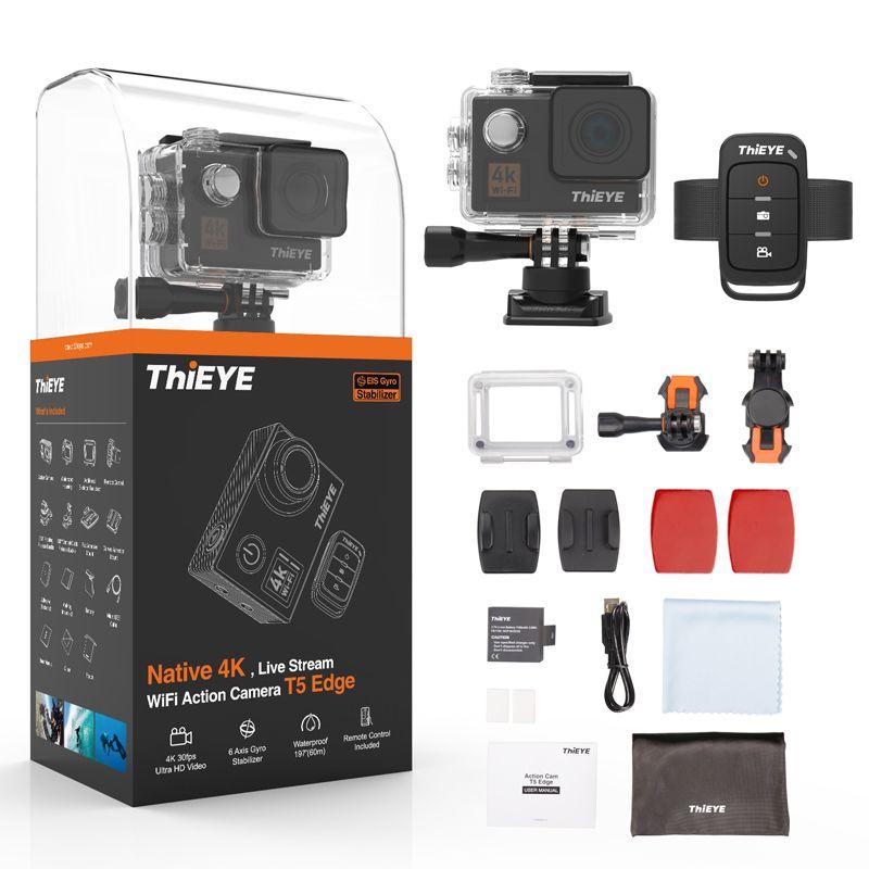 ThiEYE T5 Rand Mit Live-Stream WiFi Action Kamera Echt 4 K Ultra HD Sport Cam mit EIS Fernbedienung 60 M Wasserdicht