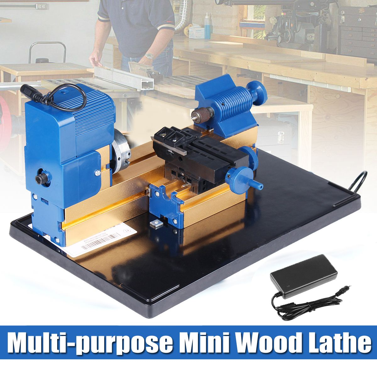 Multifunction Mini Wood Lathe Motorized Jig-saw Bead Grinder Driller 24W DC12V 2A Woodworking Turning Cutting Bead Tool