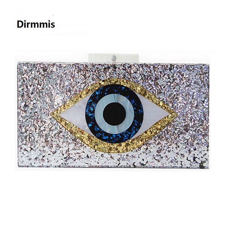 Nouveau sac à main marque de mode femmes Messenger sac géométrique mosaïque sac à bandoulière acrylique sac de soirée argent Sequin yeux décontracté embrayage