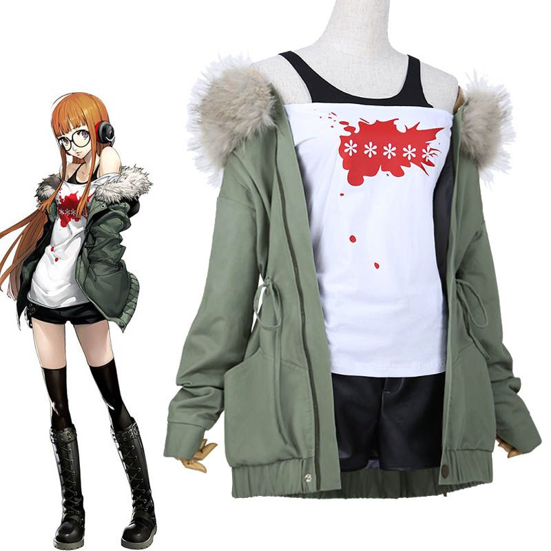 Japanese Anime Persona 5 Futaba Sakura Cosplay Cotumes Daily Clothes Women's Fancy Outfit Jacket + Shirt + Shorts