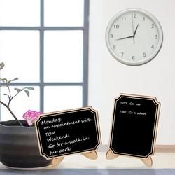 10pcs Wooden Mini Chalkboard Wedding Blackboard Signs Message Sign With Hang String Party Decoration Marriage Supplies 10*7.5cm