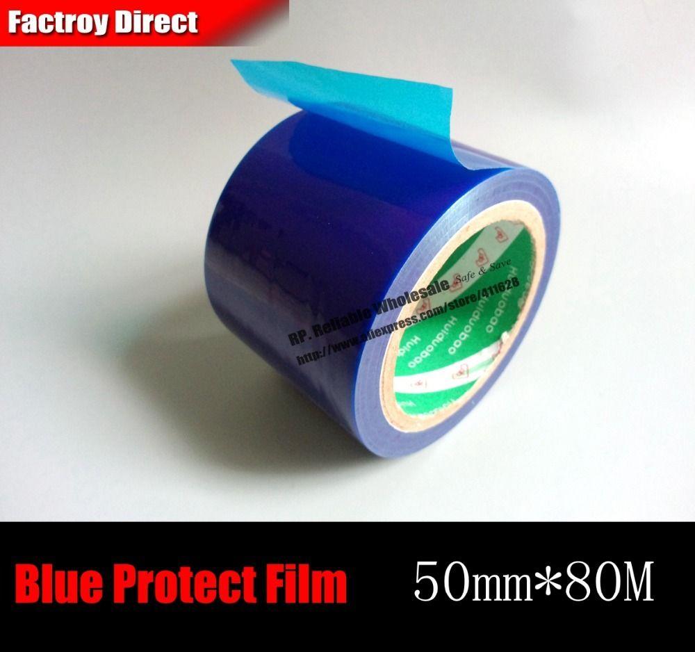 50mm * 80 M * 0.04mm proteger Películas Cintas para la aleación de aluminio, metal inoxidable superficie de cristal, partes de bicicleta proteger