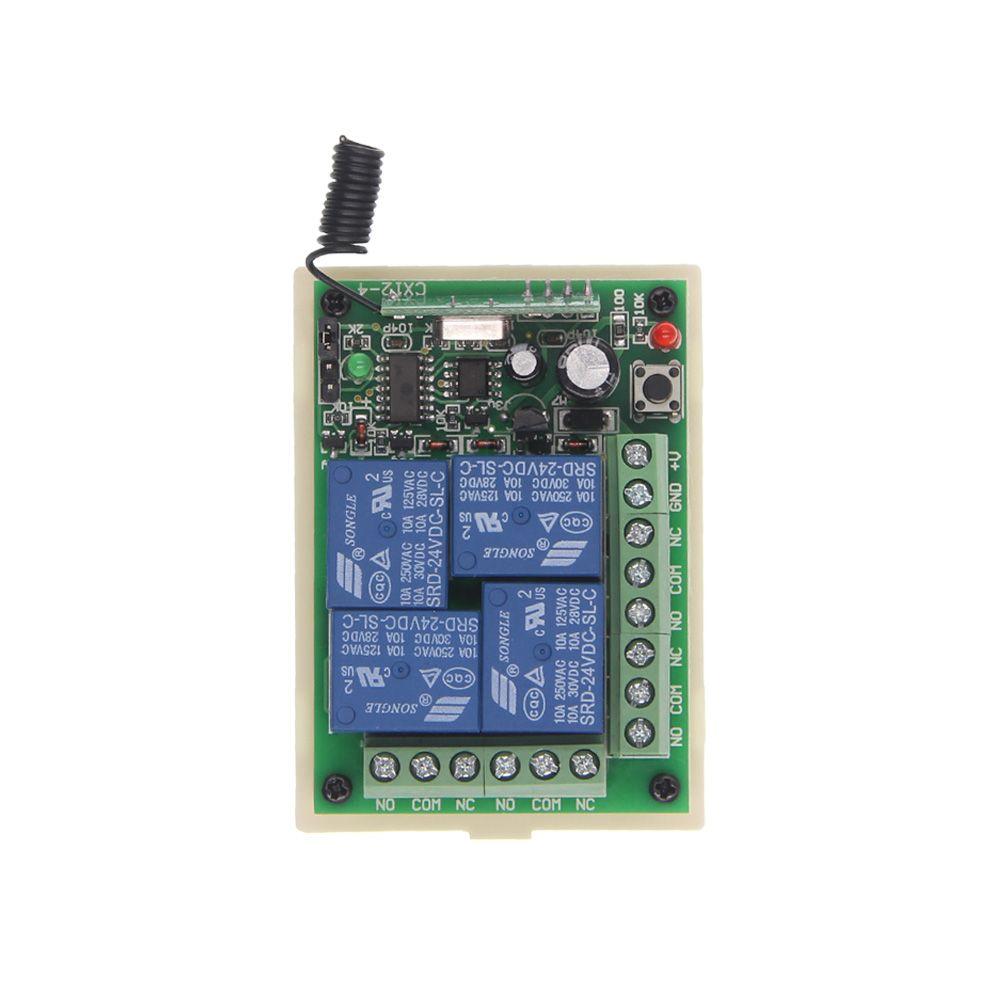 DC 12 v 24 v 4 CH Kanäle 4CH RF Drahtlose Fernbedienung Schalter System Empfänger, kompatibel 315/433 mhz