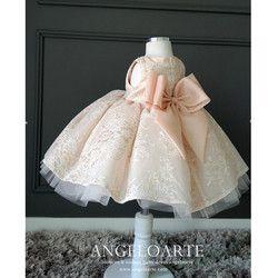 Merah muda Tulle Bayi Perempuan Pembaptisan Gaun Anak Gadis Big Bow Wedding Dress Party Dress Princess tutu Gaun Bayi Baptisan Gaun