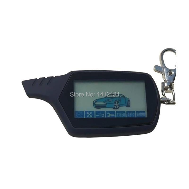 A 91 2-way LCD Remote Control Key Chain For Russian Version Vehicle Security Two Way Car Alarm System Starline A91 Keychain Fob