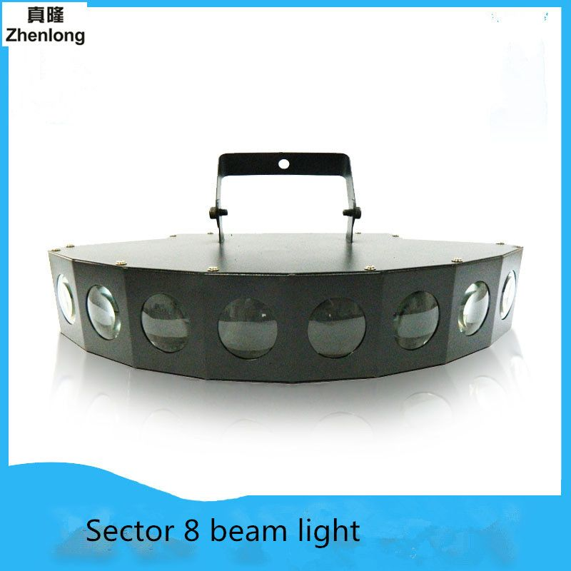 Fan 8 Eyes Beam LED Stage Light Laser Mode Disco Laser Light Party Light Sound Control DMX Lumiere Laser Wedding bar lamp