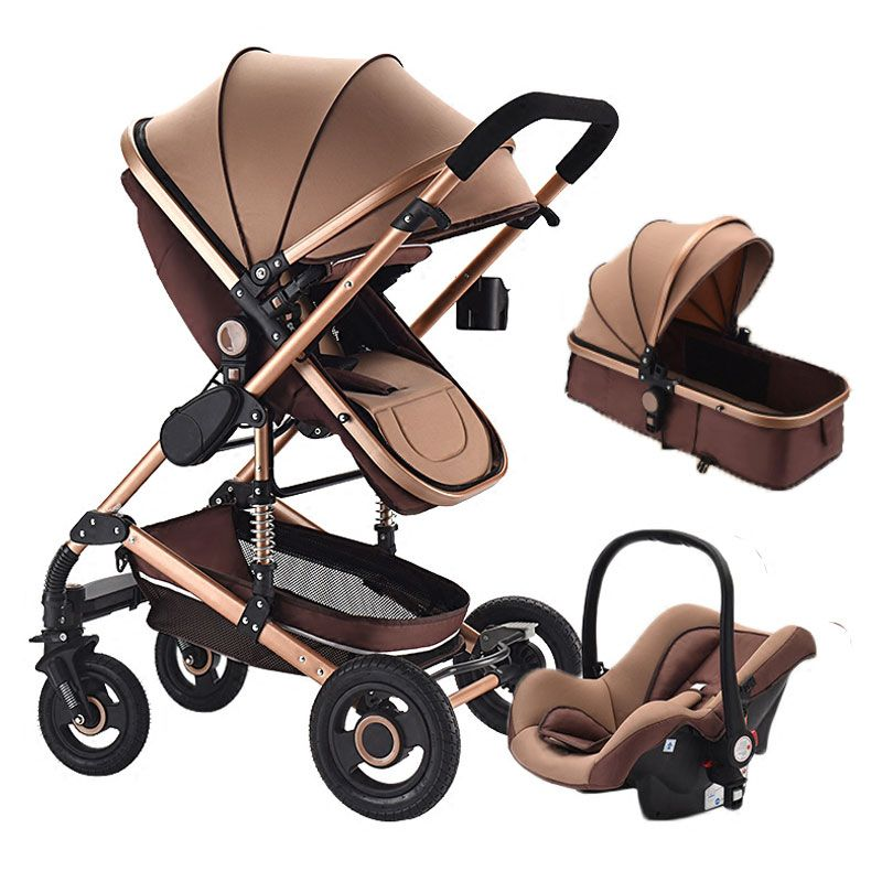 High View Convertible Baby Stroller for Newborn Baby Carriage Light Shockproof Baby Stroller 3 In 1 with Car Seat Travel System