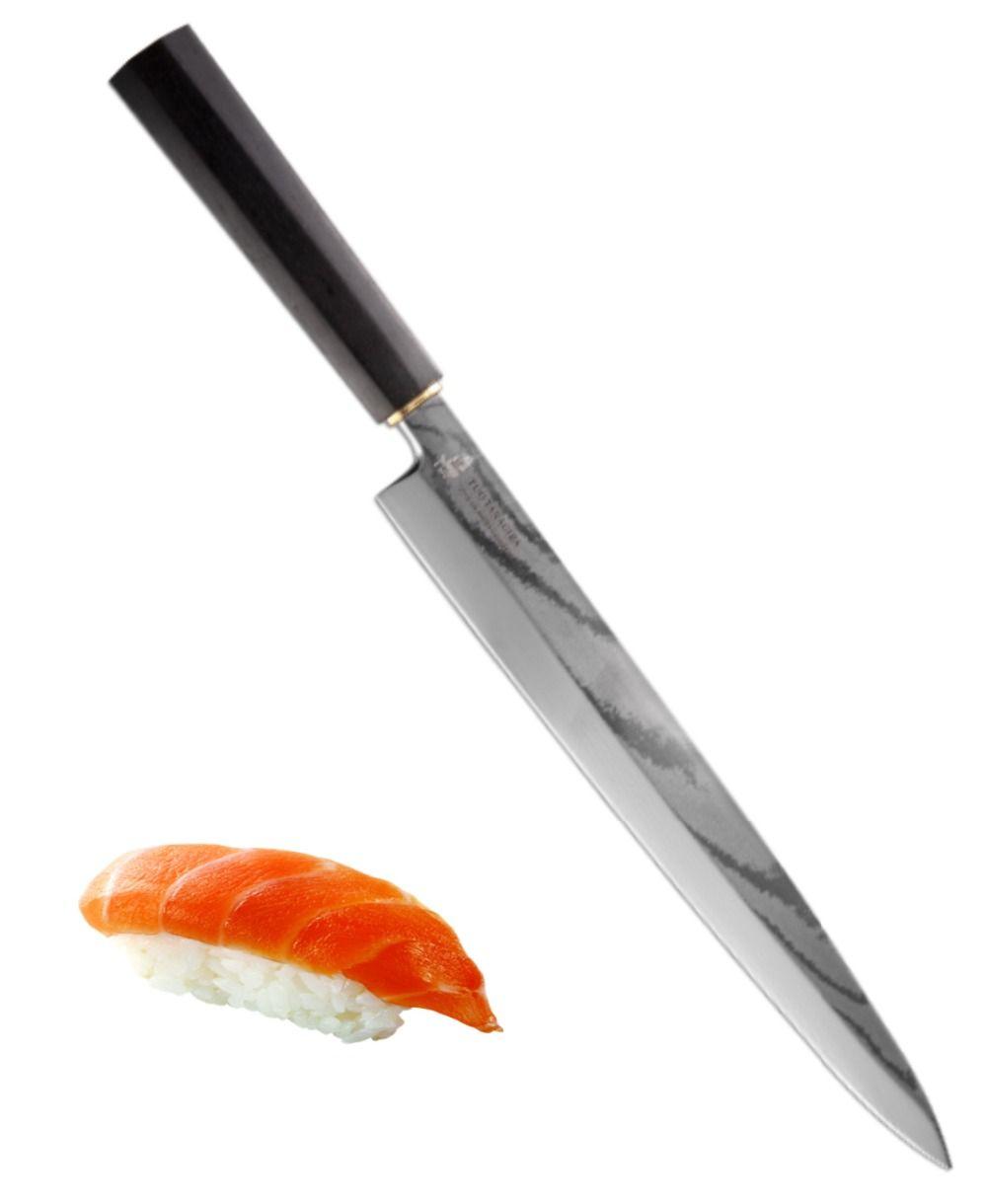 Yanagiba Sashimi Sushi Slicing Knife VG10 Japanese Damascus Stainless Steel TUO 8.25