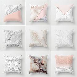 Geometric Cushion cover 45x45cm Marble Texture Throw Pillow Case Cushion Cover For Sofa Home Decor