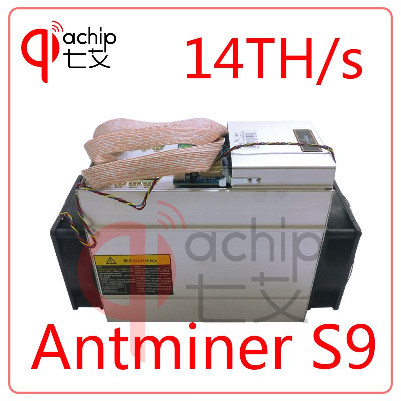 Brand New AntMiner S9 14T Bitcoin Miner with power supply Asic Mine 16nm Btc Miner Bitcoin Better than V9 t9+ WhatsMiner M3 E9