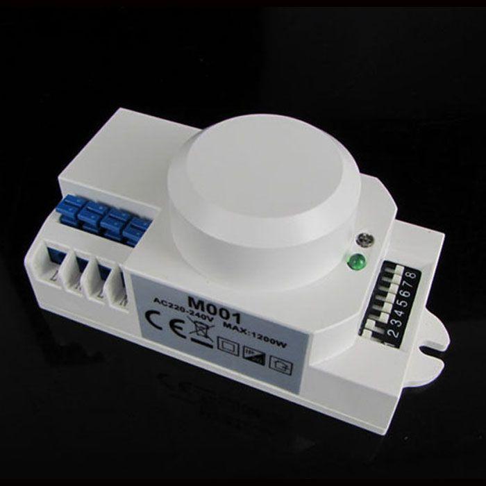 Livraison 220 V/AC-240V/AC 360 degrés Micro-ondes Capteur de Lumière Interrupteur Induction Micro-ondes Motion Sensor M001