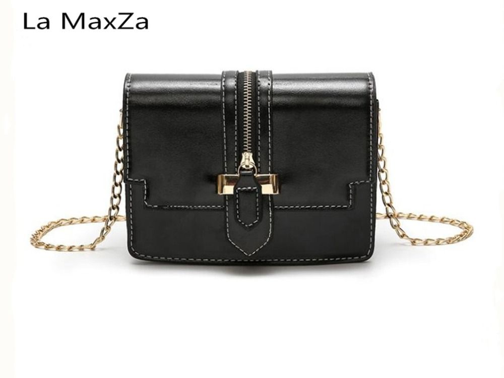 La MaxZa 2018 Explosion models popular nylon soft face goddess small square package soft surface solid color stitching bags