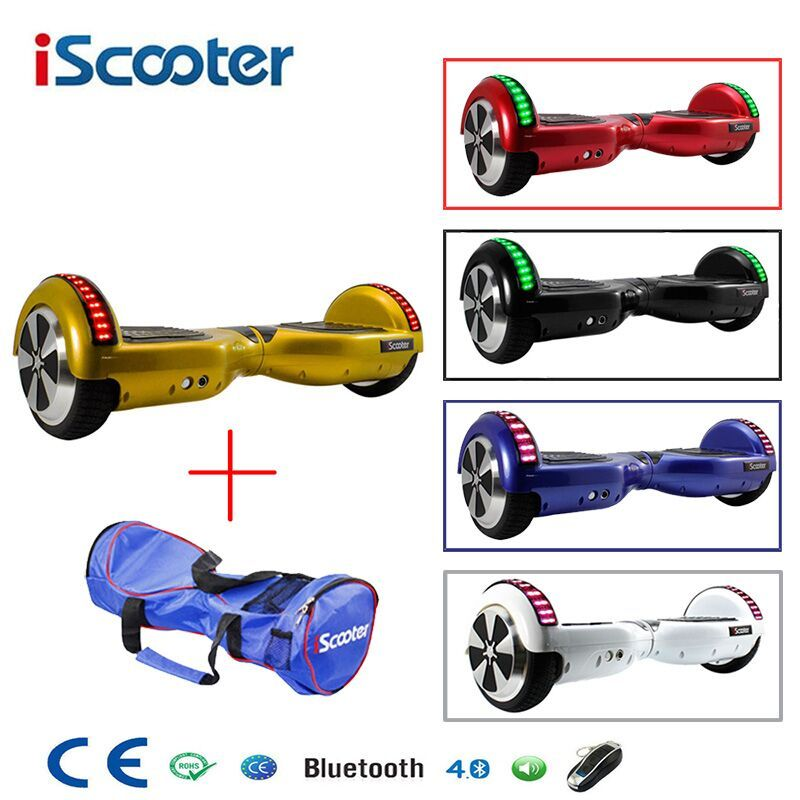 IScooter Bluetooth Hoverboard Selbst Balancing 6,5 zoll Elektrische Skateboard Hover Board gyroskop Elektrische Roller Roller stehen