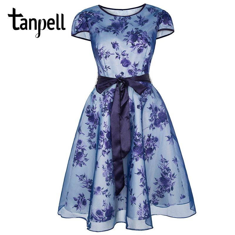 Tanpell short homecoming dress purple printed bow cap sleeves above knee a line gown cheap women prom party homecoming dresses
