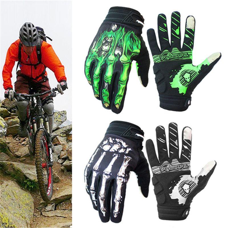 RIGWARL Motobike gants de cyclisme complet doigt os conception écran tactile GEL squelette respirant gants Moto Guantes Moto Luvas