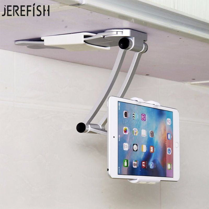 JEREFISH Phone Holder For Kitchen Tablet Mount Stand 2-in-1 Wall Countertop Fit For 13.4cm To 19cm Width And For iPhone Samsung