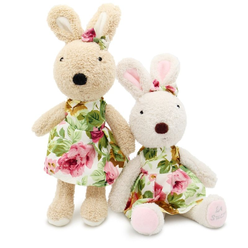 le sucre Wearing dress 30cm kawaii Rabbit plush toys bunny Stuffed dolls kids toys gifts,clothes can be take off