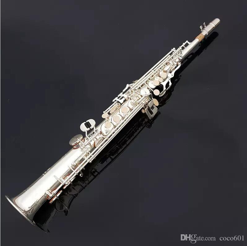 Neue Japan Yanagisawa S901 B flache Sopran Gerade saxophon silber sax beruf Musical Instruments und Mundstück Freies