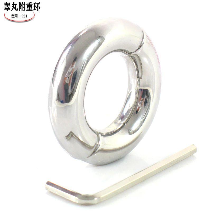 Anneau de pénis en acier inoxydable anneau de pénis en acier inoxydable dispositif de chasteté extension de pénis anneau de scrotum balle scrotum civière jouets sexuels pour homme