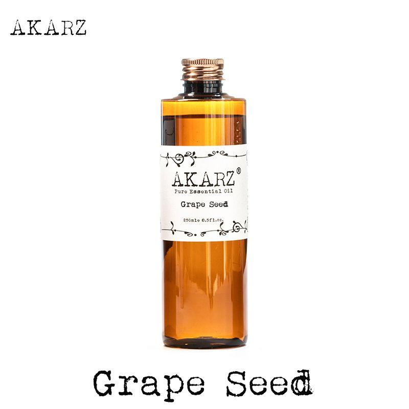 AKARZ célèbre marque huile de pépins de raisin naturel aromathérapie haute capacité peau soins du corps massage spa pépins de raisin huile essentielle