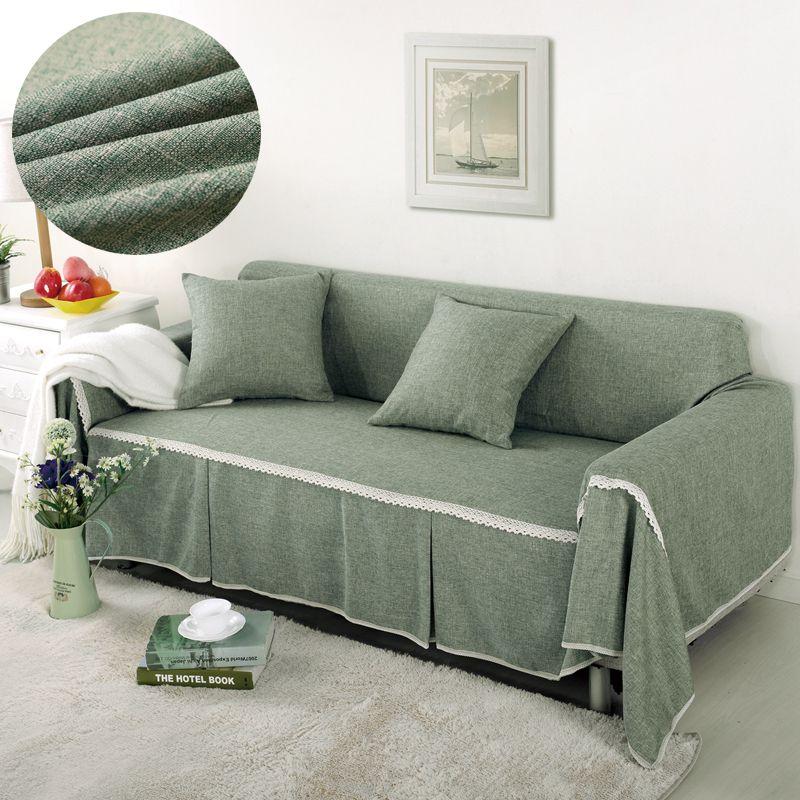 1/2/3/4 places canapé couverture solide couleur universelle canapé serviette tout compris poussière canapé couverture décoration de la maison housse