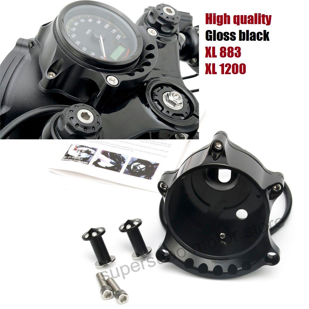 Motorcycle Black Cafe Gauge Sportster 883 Headlight Mount for Harley Sportster IRON XL883 1200R Nightster Roadster 2008-2013