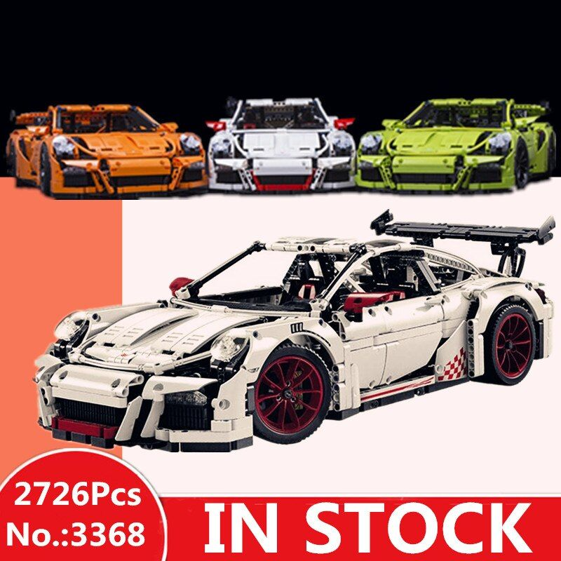 H&HXY IN STOCK 2726PCS 3368 technic series White green orange Car Model Building Kits Blocks Toys Bricks Compatible 42056 Gifts