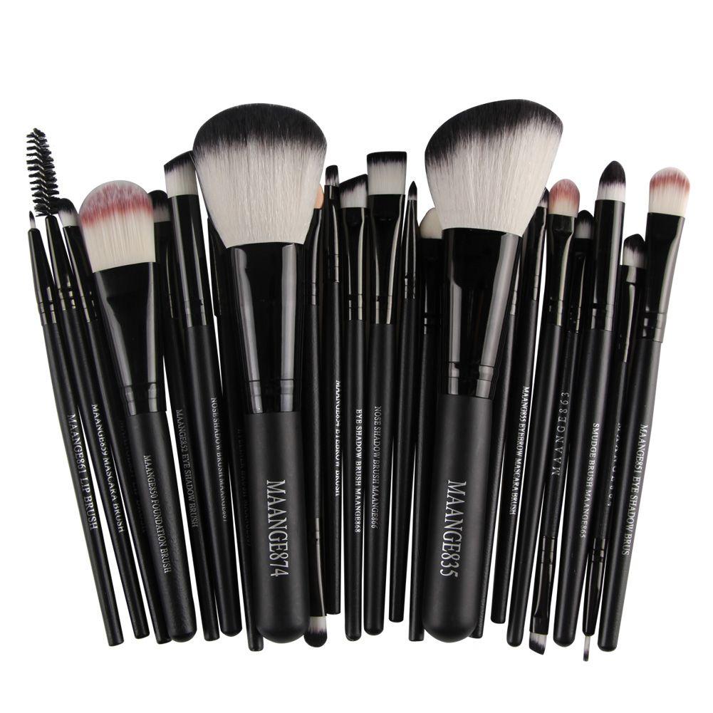 22 pcs pinceaux de maquillage Mélange Crayon Fondation ombre à paupières Pinceaux de Maquillage Fard À Paupières Eyeliner Brosse pinceis de maquiagem