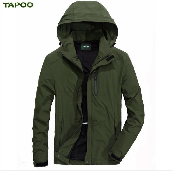 TAPOO Men' S Spring Summer Outerwear Windbreaker Men' S Thin Jackets Hooded Casual
